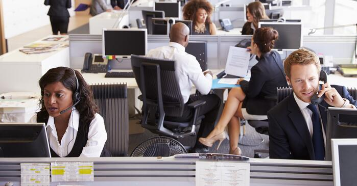 Colleagues at desk