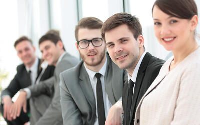Colleagues smiling